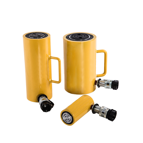 Single-acting ultra-thin self-locking hydraulic cylinder