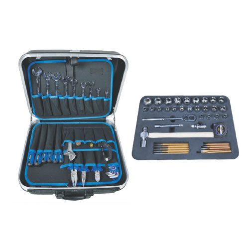 72 pcs combination hand tool set with suitcase or draw-bar box