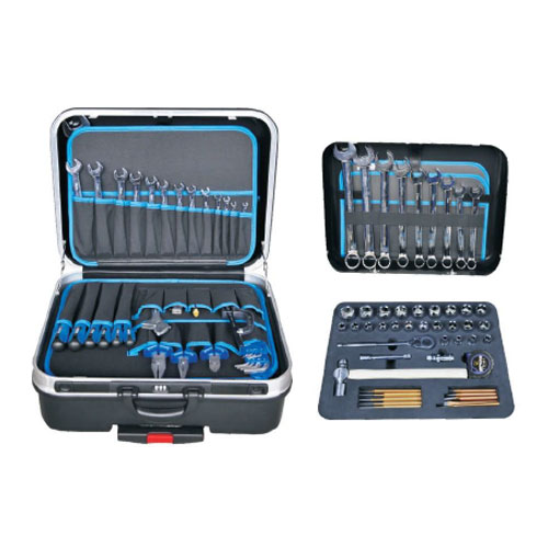 85 pcs combination hand tool set with suitcase or draw-bar box