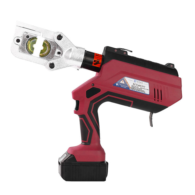 ECT-60UNV Multifunction 360 Degree Rotation Battery Powered Cordless Hydraulic Wire Cable Lug Electric Terminal Hexagon Crimping Tools
