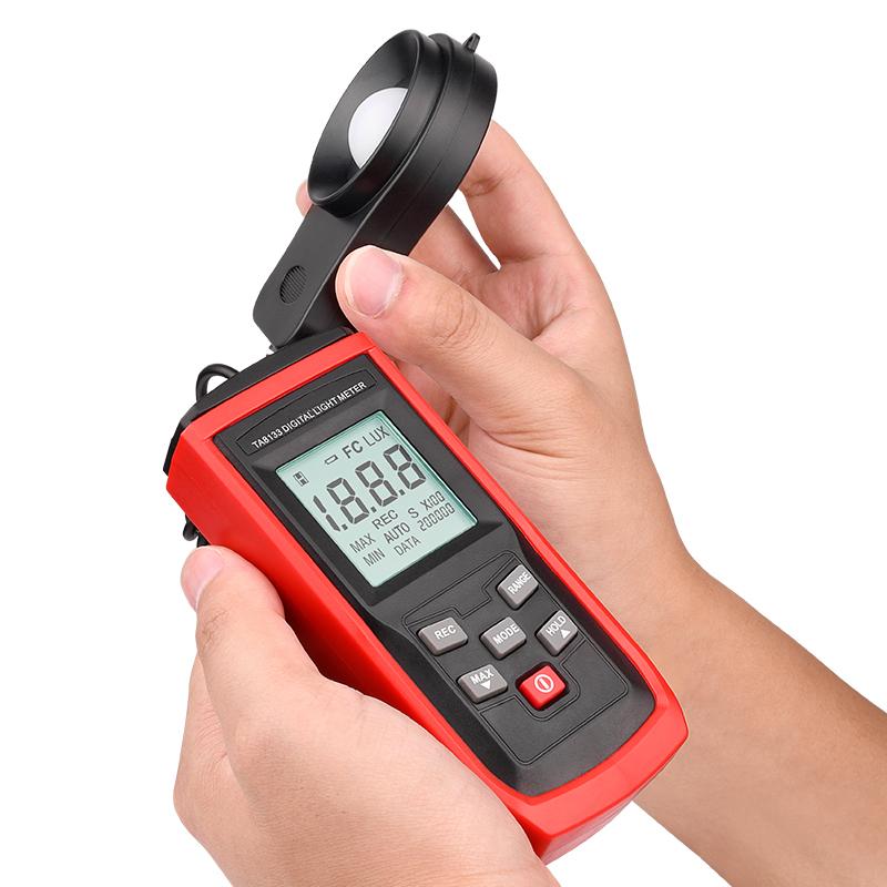 TA8133 200000 Lux/FC LCD Luxmeter Luminometer Photometer Data Logger Digital Led Light Meter