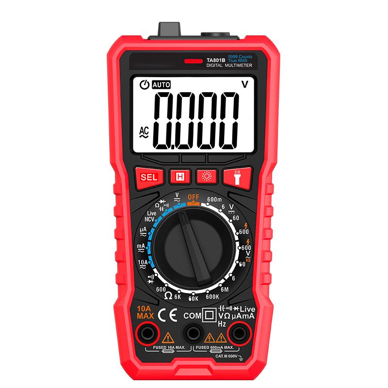 TA801B Ture Rms Ac Dc Ncv Auto Range Digital Multimeters Tester Factory Price