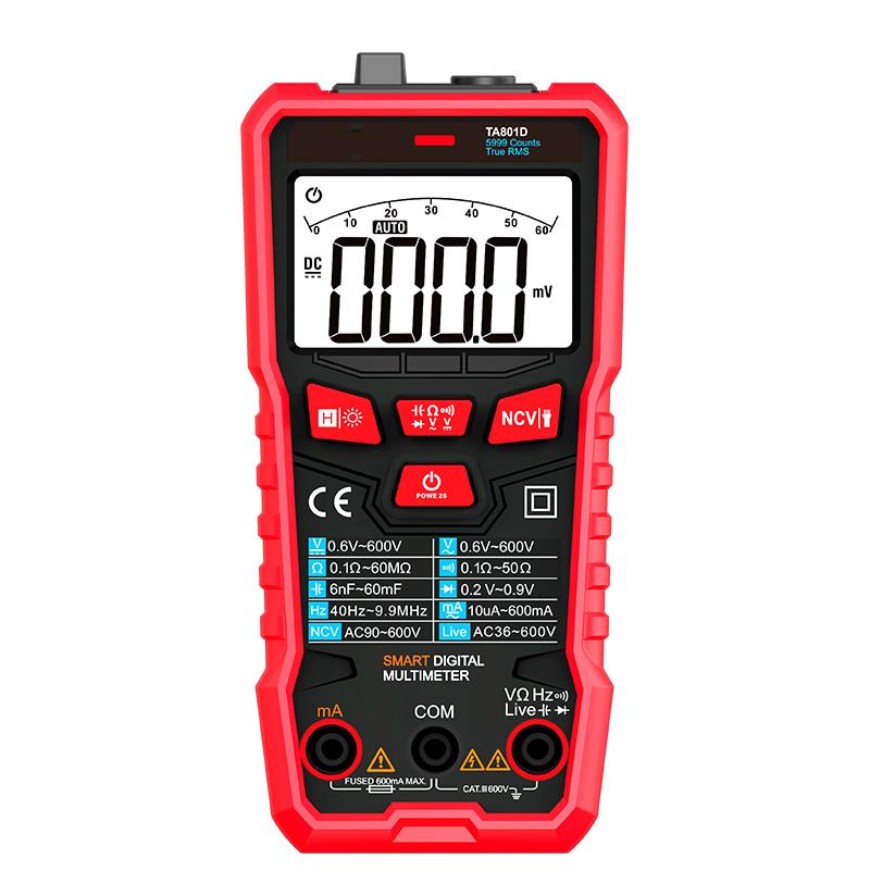 TA801D High Precision Mini Smart Digital Intelligent Touch Digital Multimeter Ture Rms