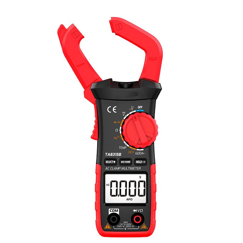TA8315B Handheld Non-contact Mini Digital Multimeter AC DC Clamp Meters True-rms