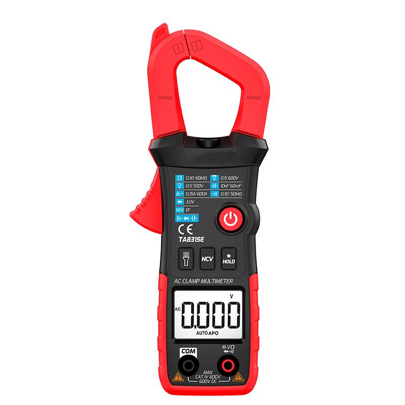 TA8315E Factory Price Handheld Smart AC DC Voltage Resistance Capacitance Multimeter Clamp Meters
