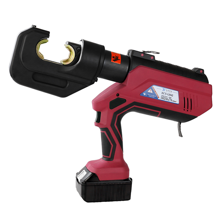 ECT-12042 700bar Battery Cu50-400mm2 Hydraulic Cable Crimper Connector Copper Cordless Electric Crimping Tool