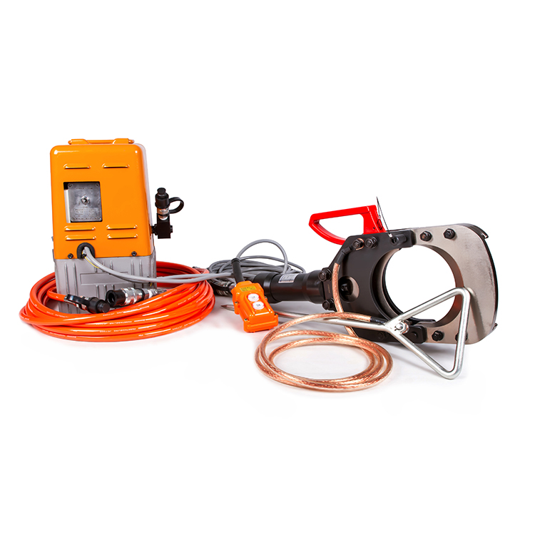 EICT-132-35KV Armored Cable Insulated Hydraulic Cutting Tool With Electric Pump