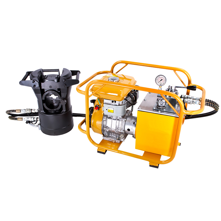 HPG-700 Double Acting Gasoline Pressure Hydraulic Pump Petrol Engine Driven